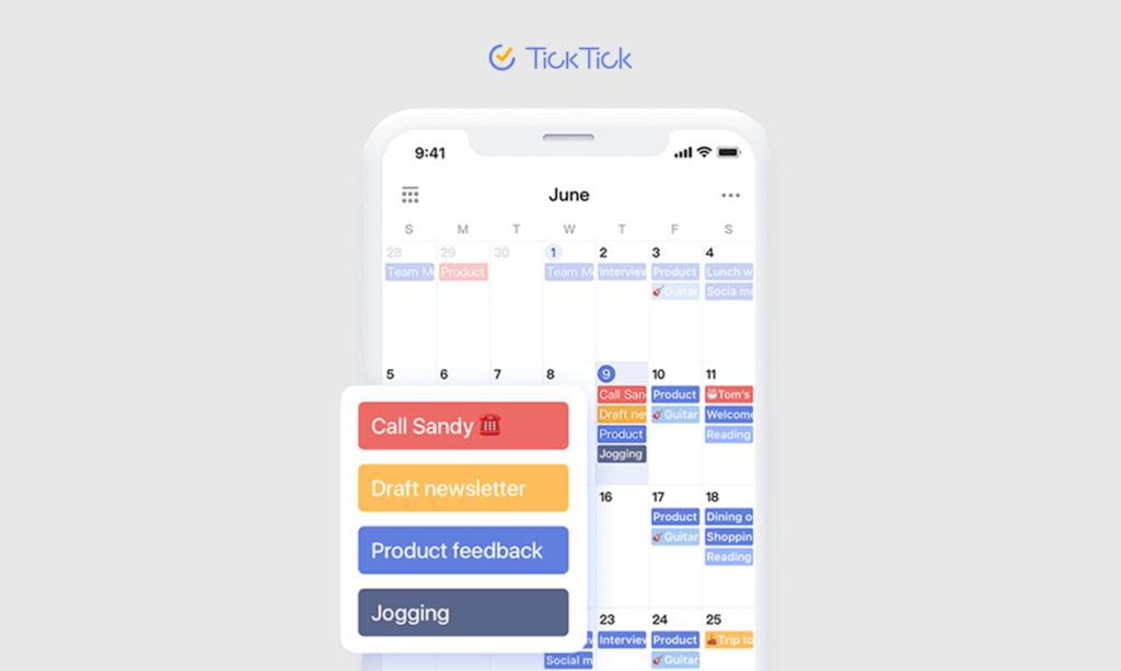 ticktick calendar
